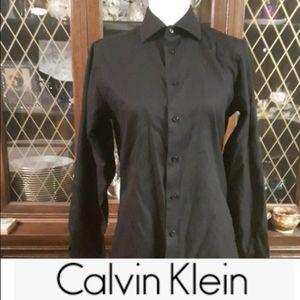 size 14 1/2 Men's Calvin Klein Slim Fit No Iron